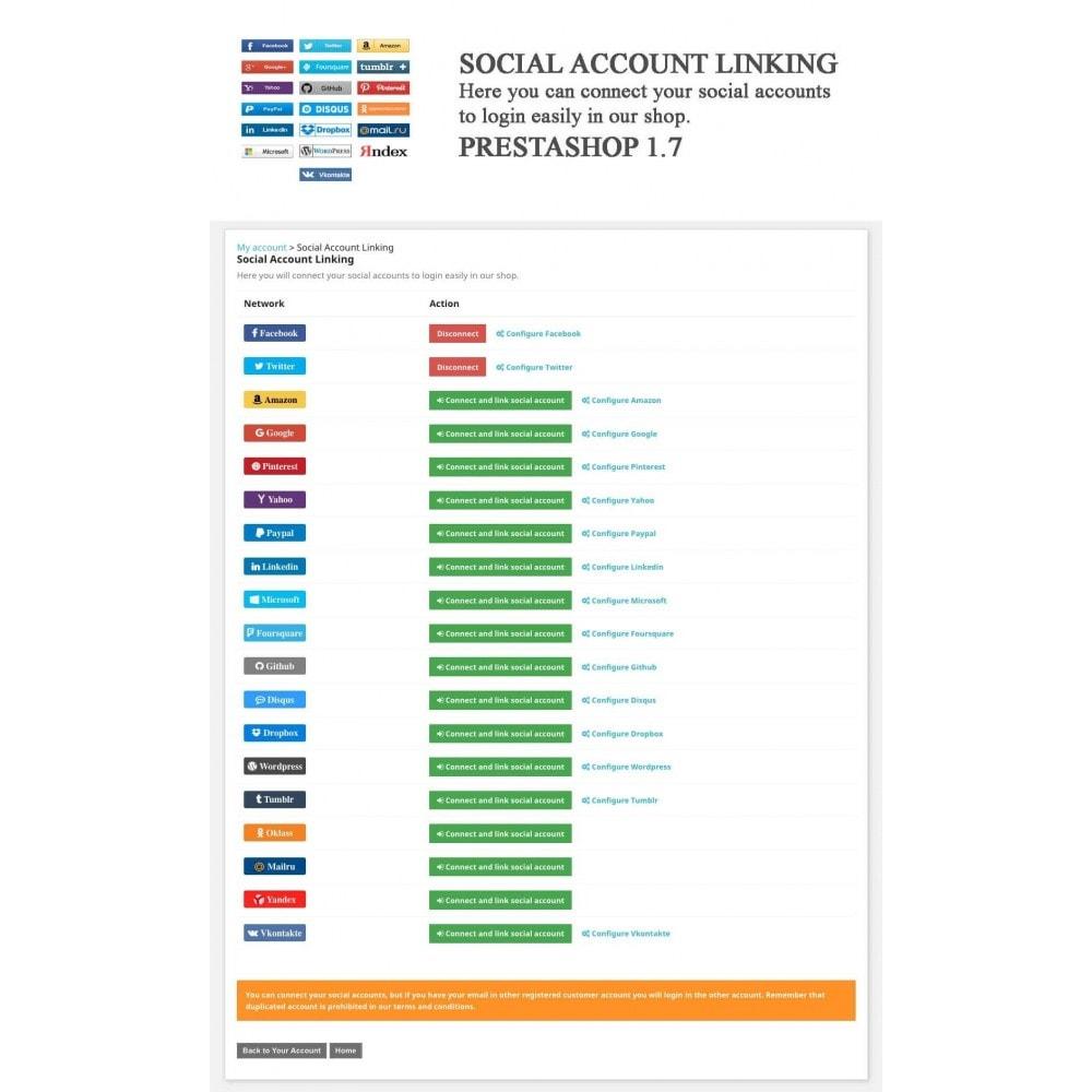 module - Boutons Login & Connect - Logins sociaux + Statistiques (19 en 1) - 12