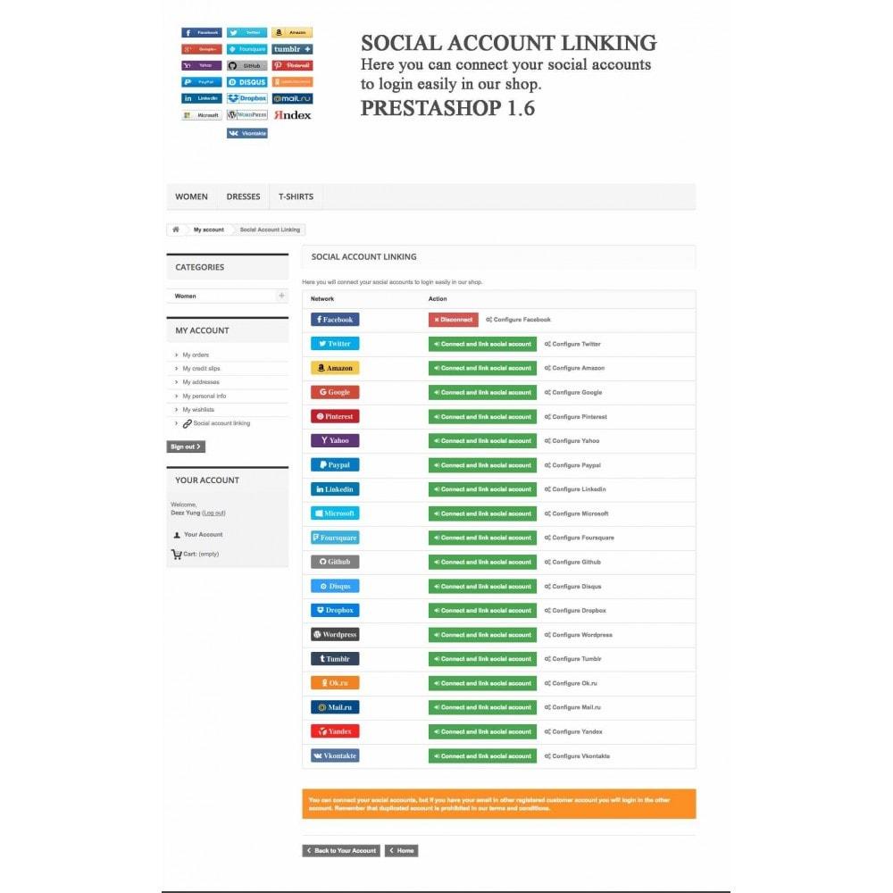 module - Boutons Login & Connect - Logins sociaux + Statistiques (19 en 1) - 13