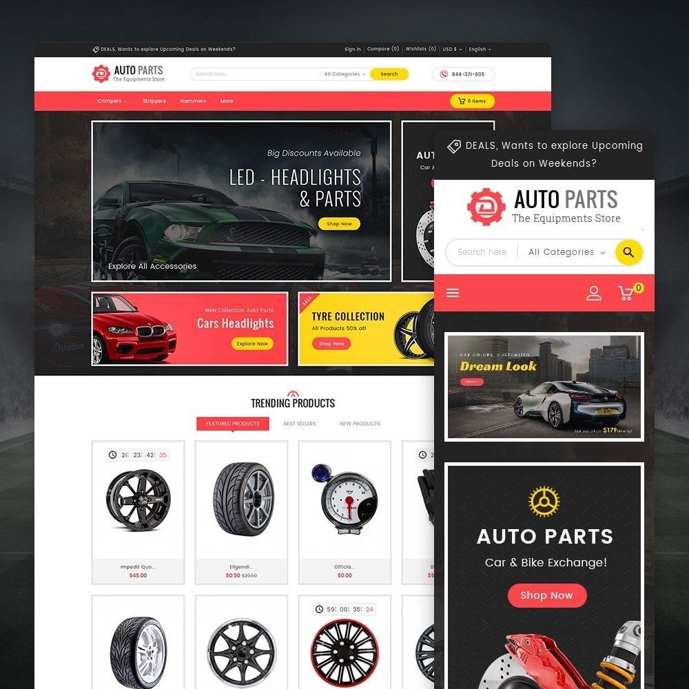 theme - Carros & Motos - Auto Equipment Parts - 1