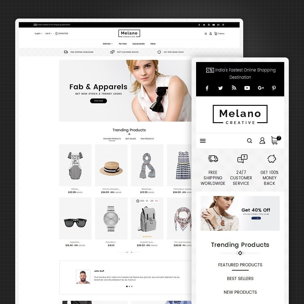 theme - Fashion & Shoes - Melano Creative Fashion - 1