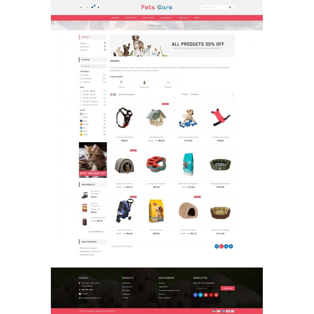 theme - Animais - Pets Care - Animals Store - 3