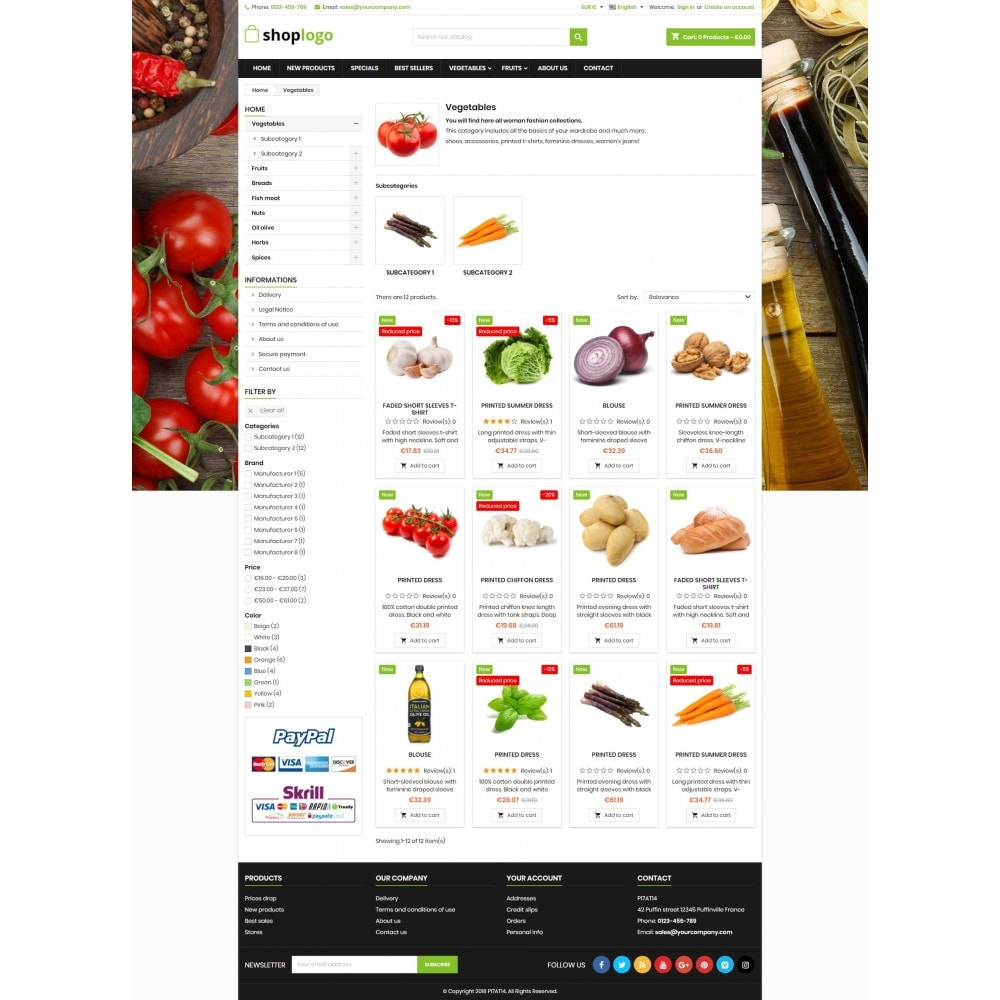 theme - Alimentos & Restaurantes - P17AT14 Food store - 3