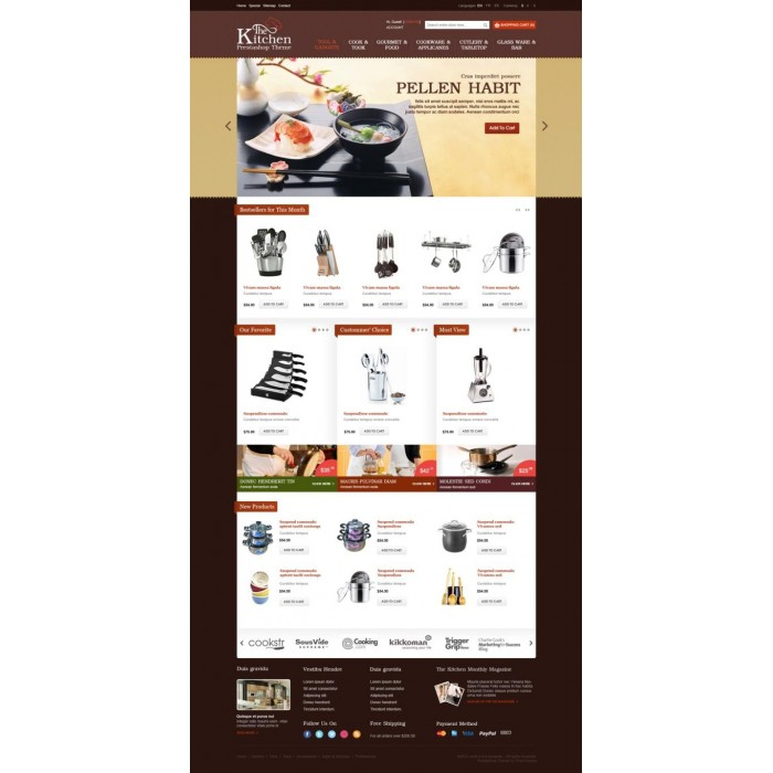 theme - Interior & Furniture - Home, Kitchen, Dining, Cooking Theme - Prestheme Cochie - 1