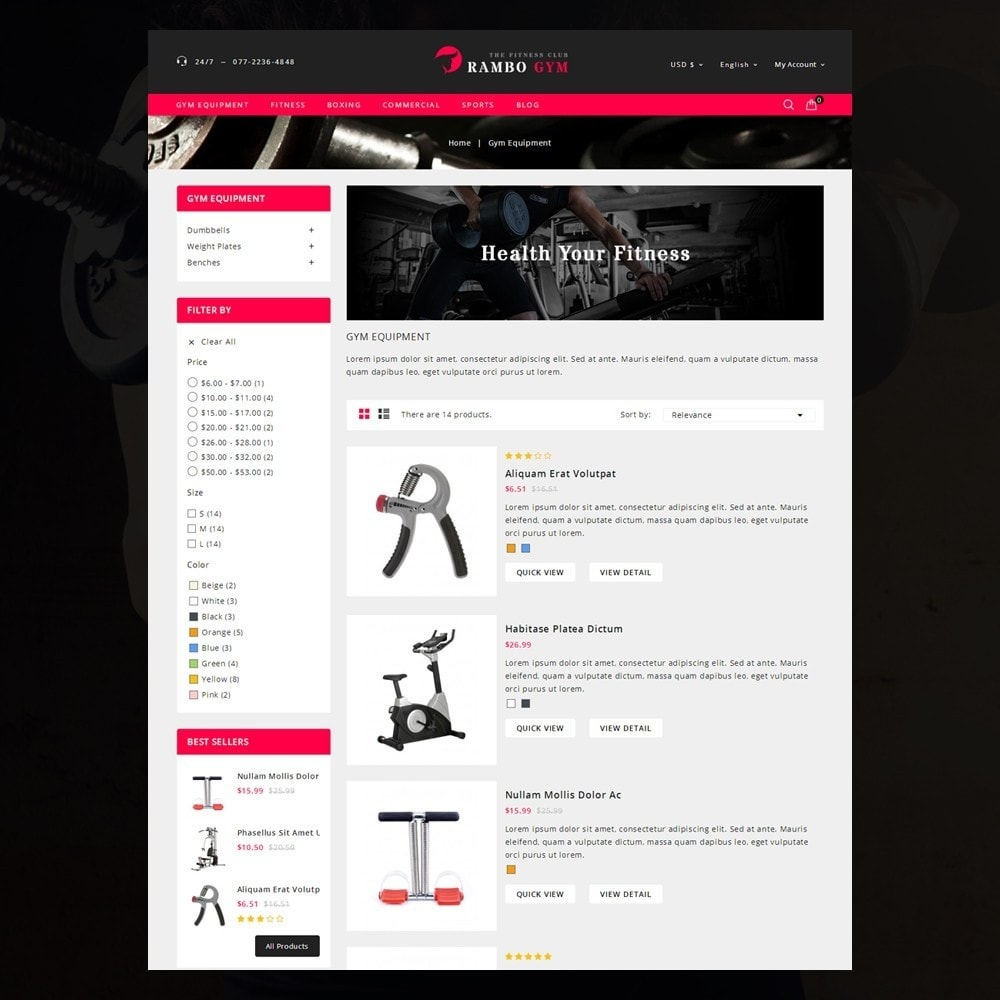 theme - Salud y Belleza - Rambo Fitness Store - 4