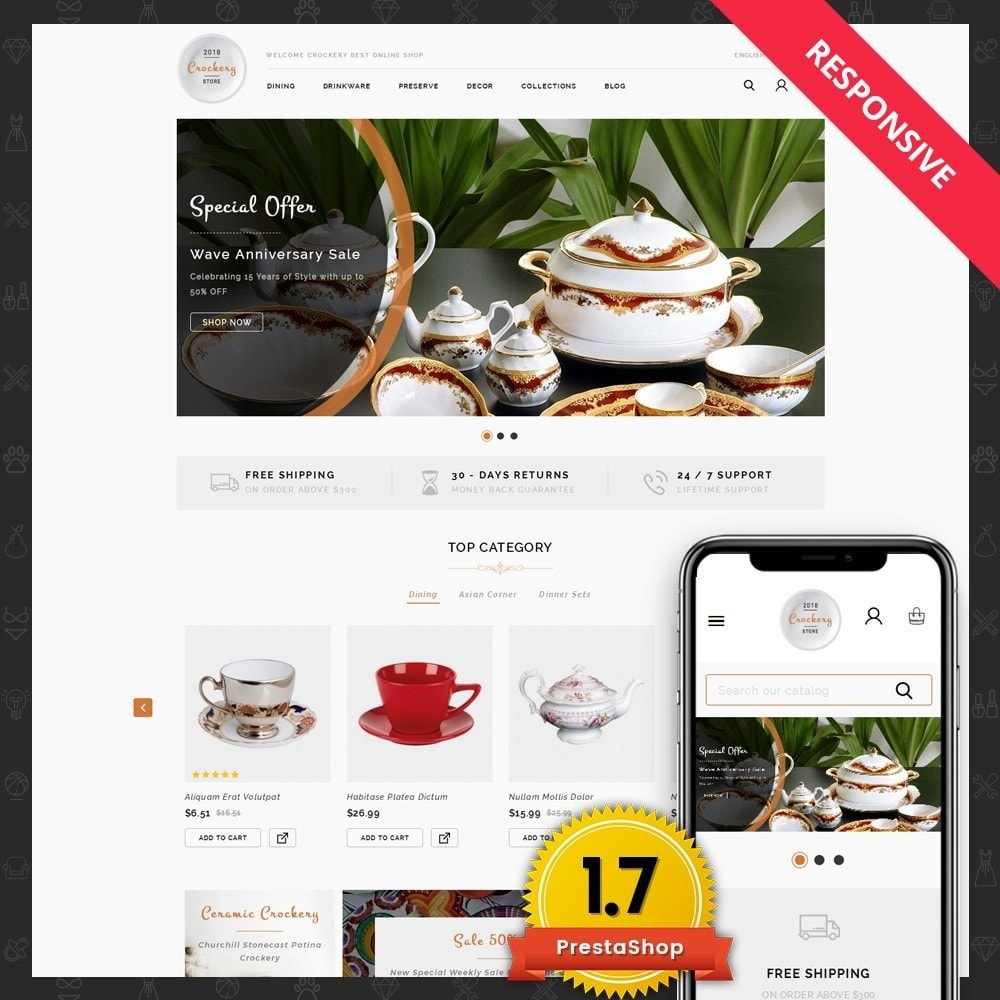 theme - Maison & Jardin - Kitchen Crockery Store - 1