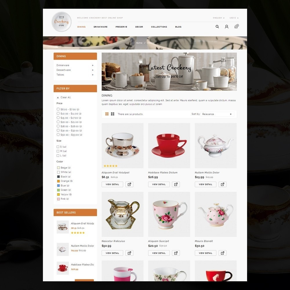 theme - Casa & Jardins - Kitchen Crockery Store - 3