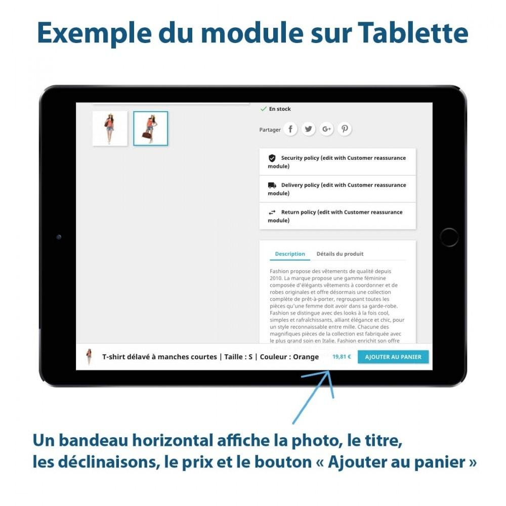 module - Inscription & Processus de commande - Sticky Panier sur les Fiches Produits - 2