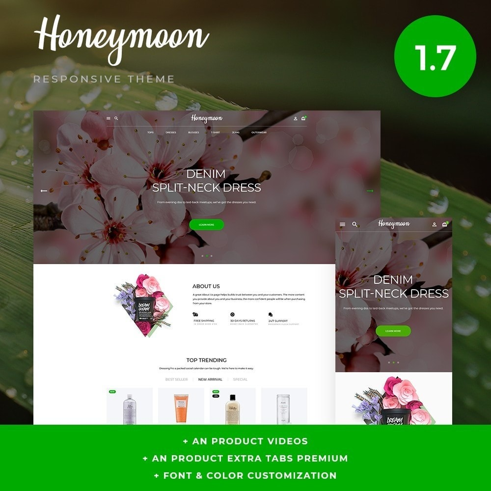 theme - Santé & Beauté - Honeymoon Cosmetics - 1