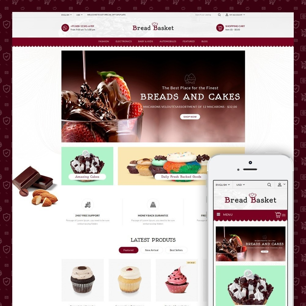 theme - Lebensmittel & Restaurants - Bread Basket - Bakery Shop - 1