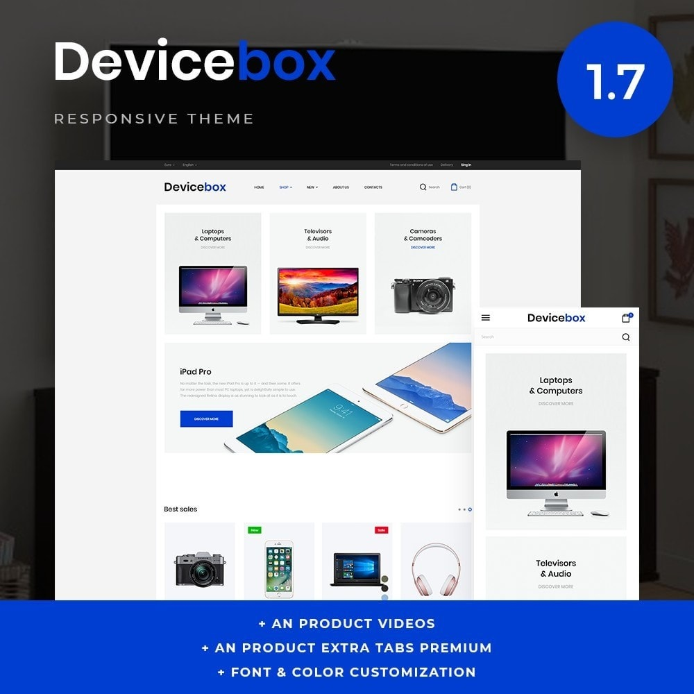theme - Электроника и компьютеры - Devicebox - High-tech Shop - 1