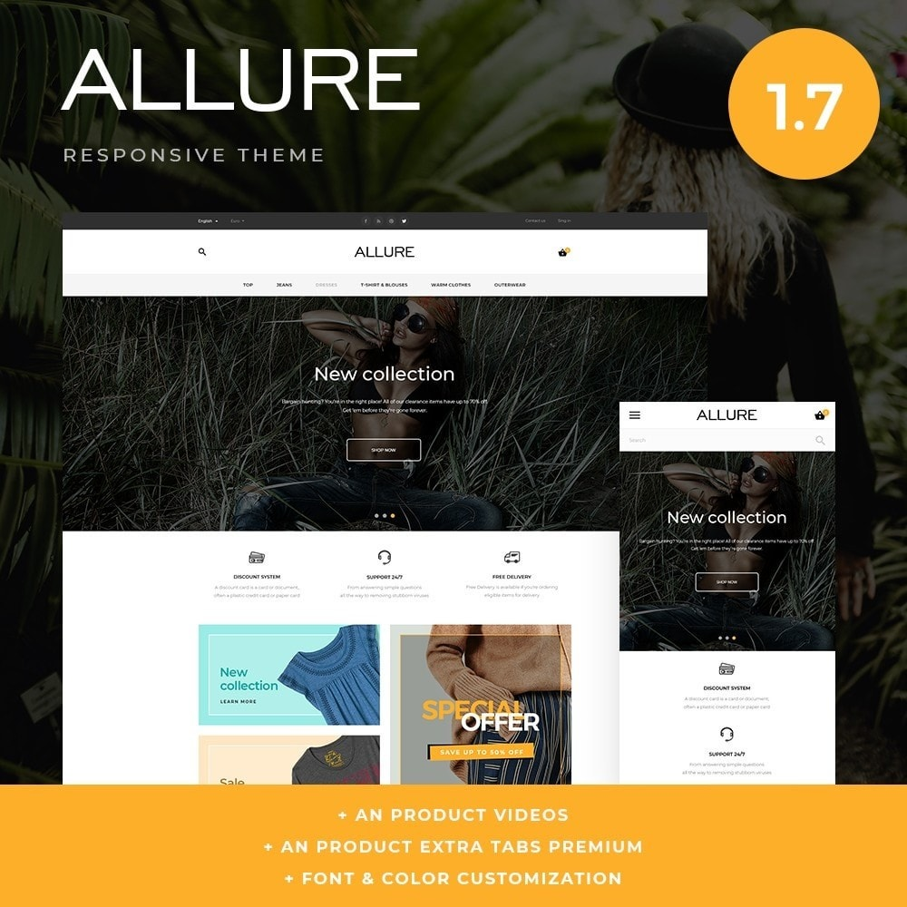 theme - Мода и обувь - Allure Fashion Store - 1