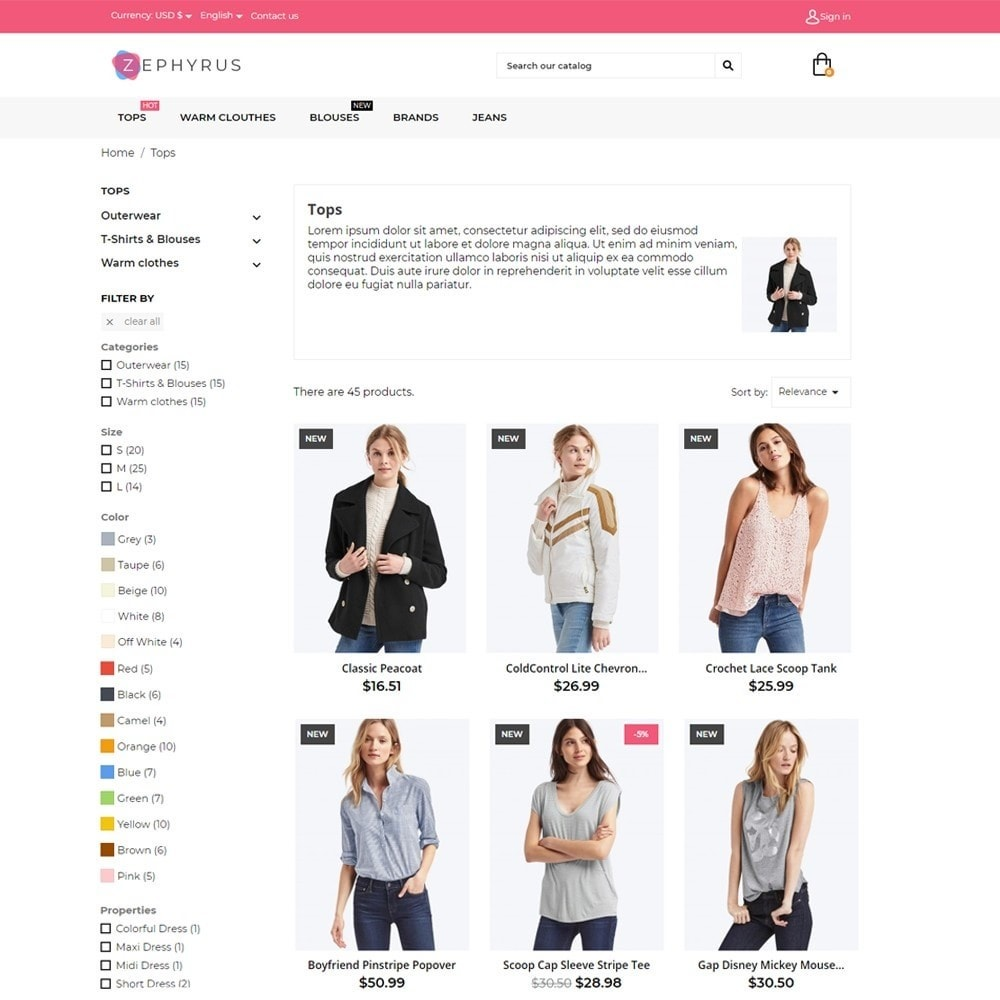 theme - Mode & Chaussures - Zephyrus Fashion Store - 5