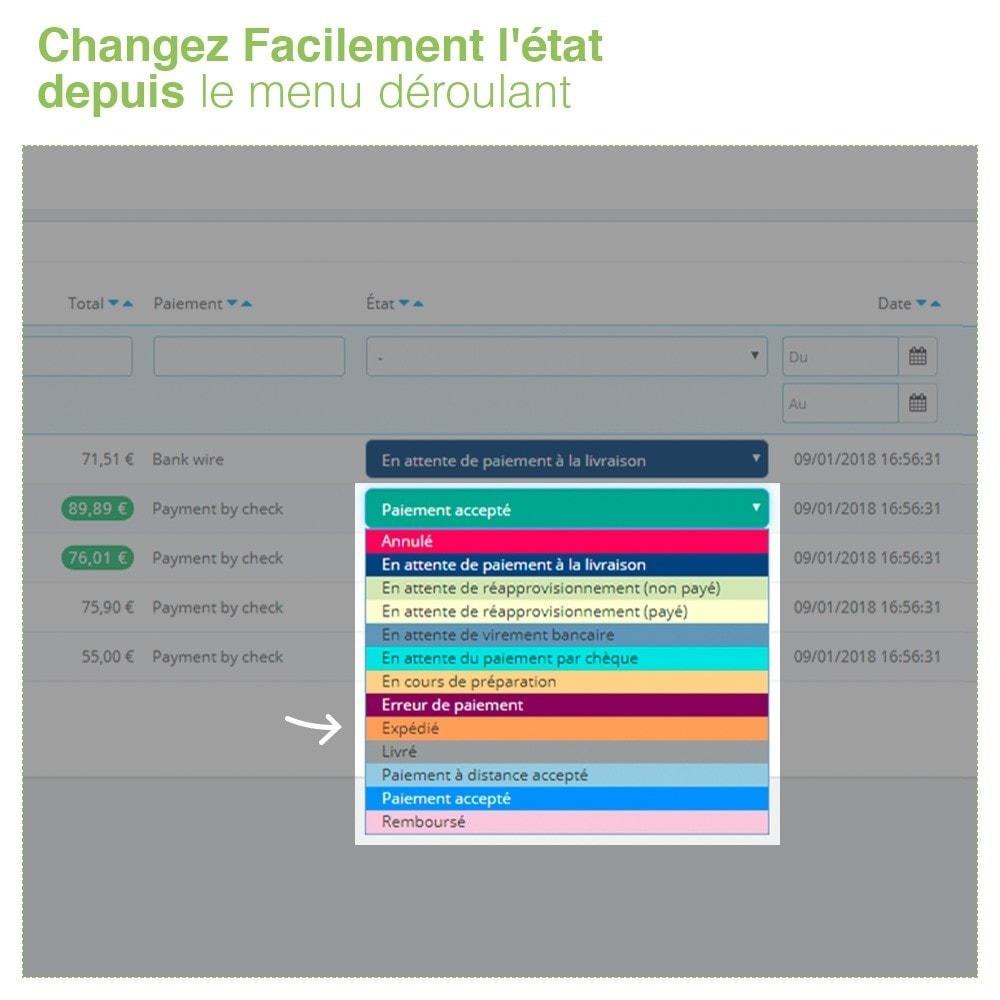 module - Gestion des Commandes - Changer État des Commandes depuis Liste des Commandes - 4