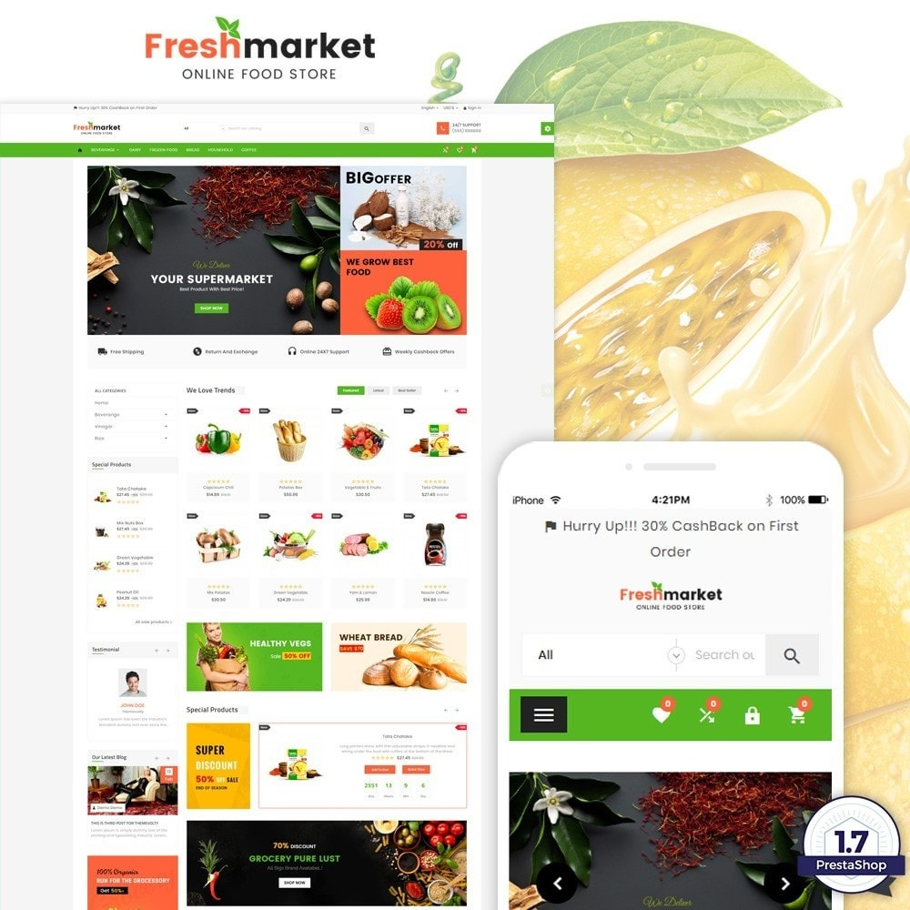 Fresh Market - Food Super Store v3
