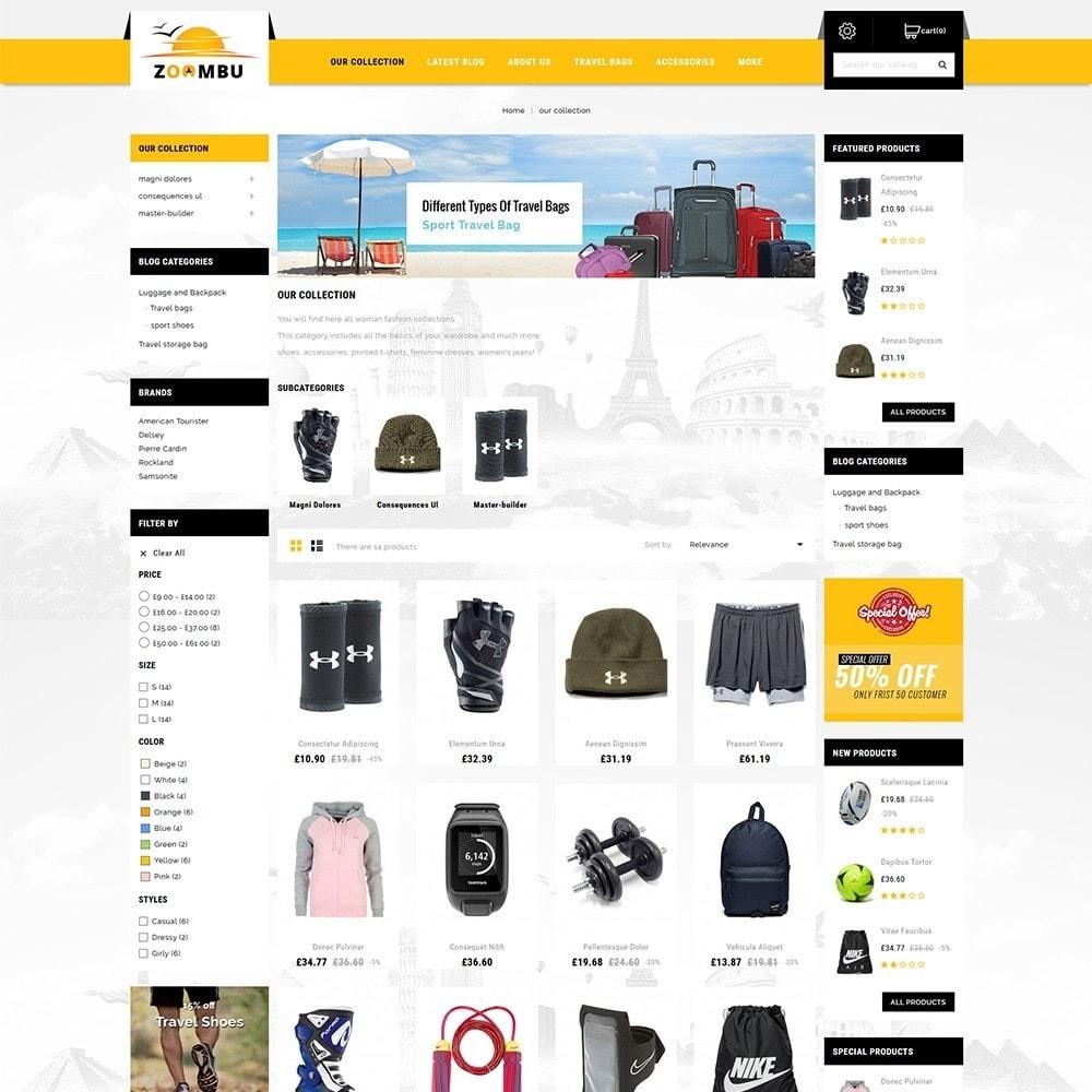 theme - Sports, Activities & Travel - Zoombu Travel Store - 4