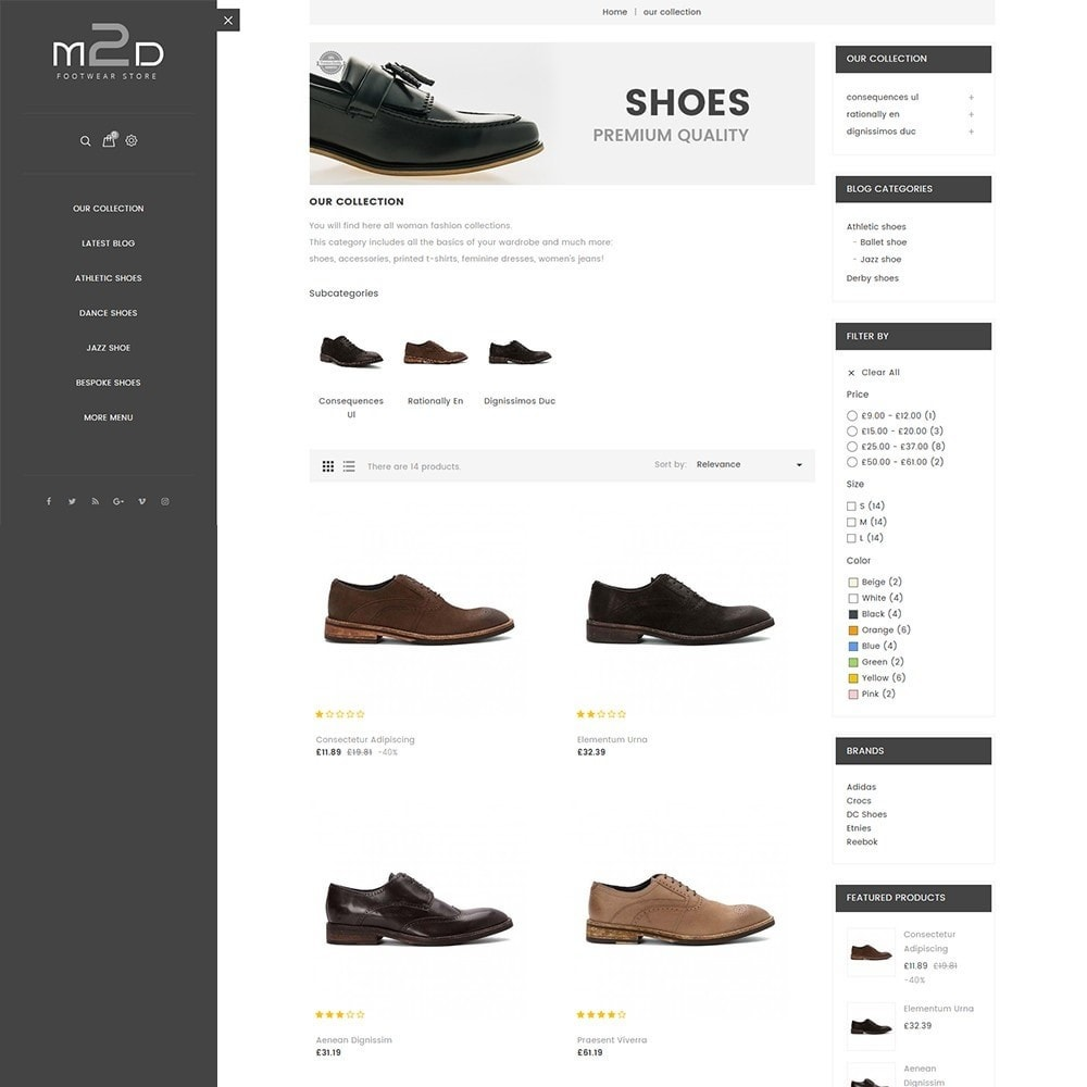 theme - Moda & Calzature - M2D Footwear - 4