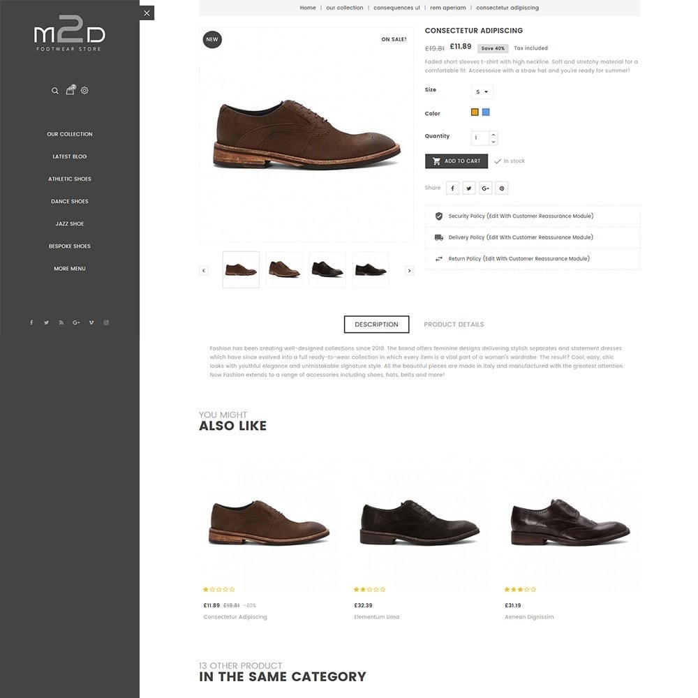 theme - Moda & Calzature - M2D Footwear - 7