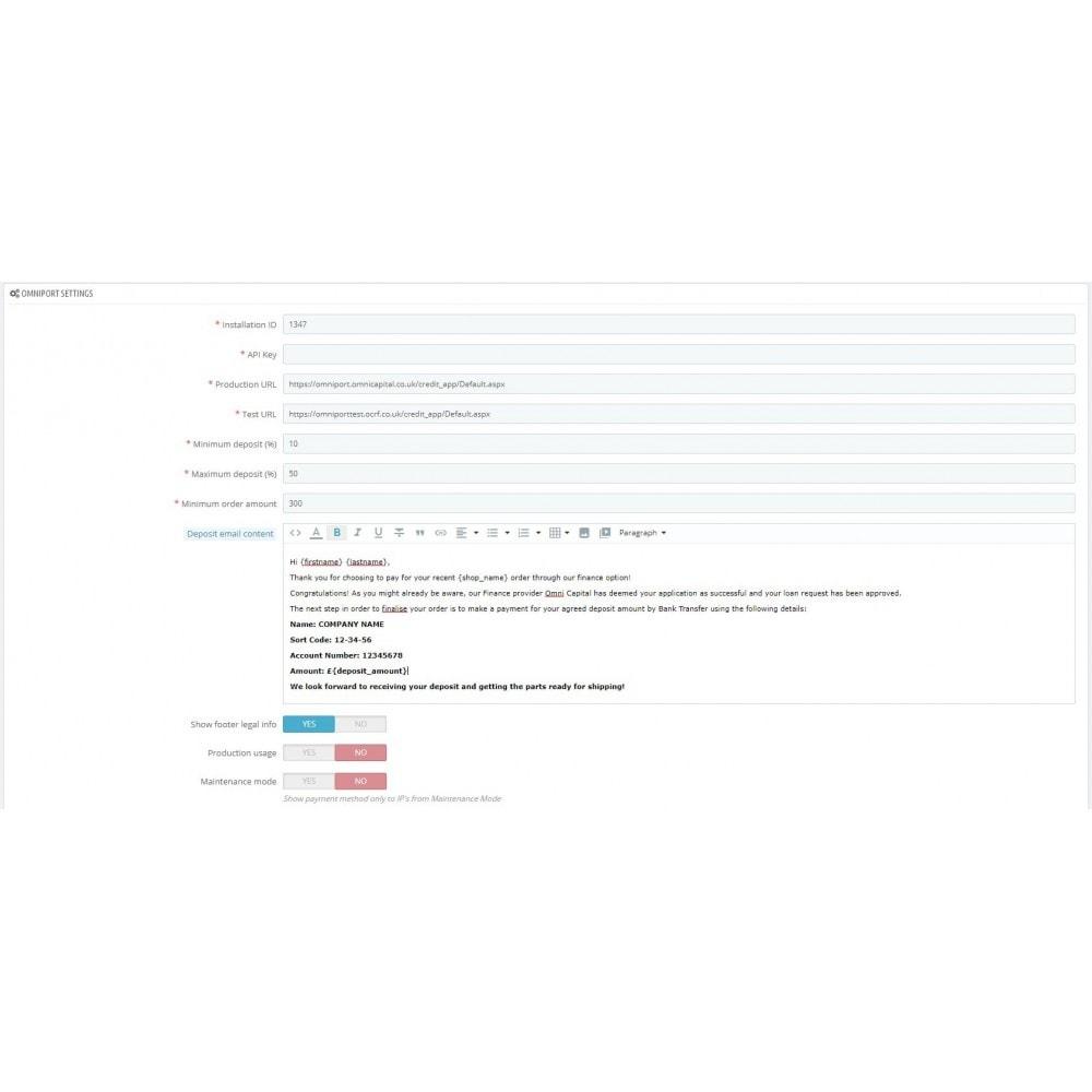 module - Otros métodos de pago - Omni Capital Installment - 1