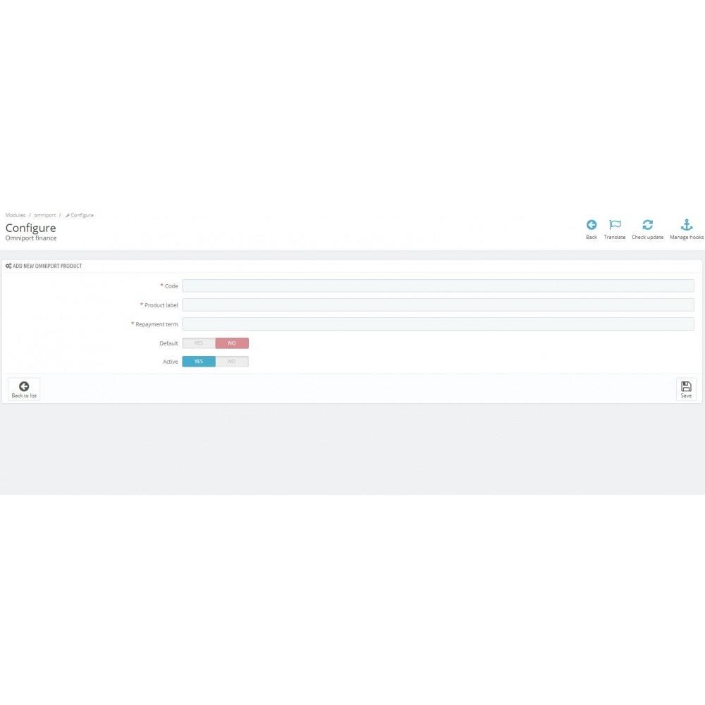 module - Otros métodos de pago - Omni Capital Installment - 3