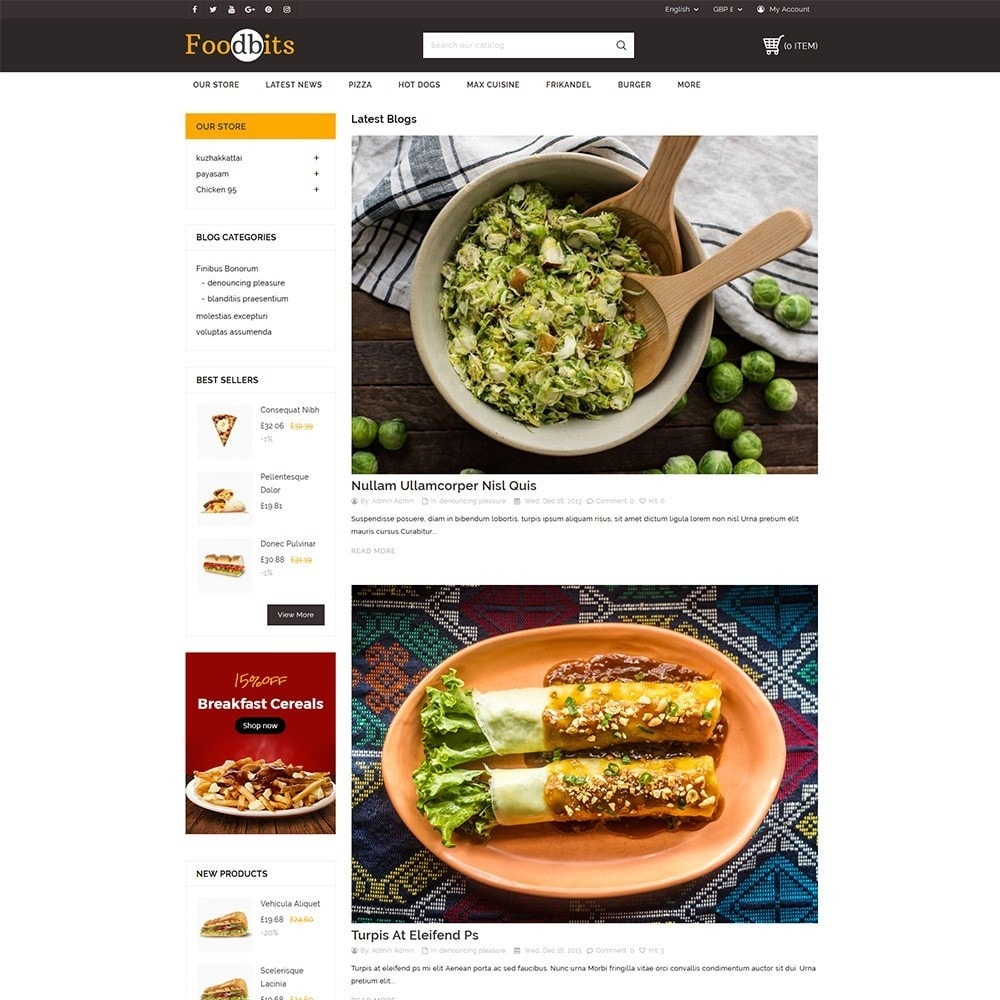 theme - Alimentation & Restauration - Foodbits Restaurant - 7