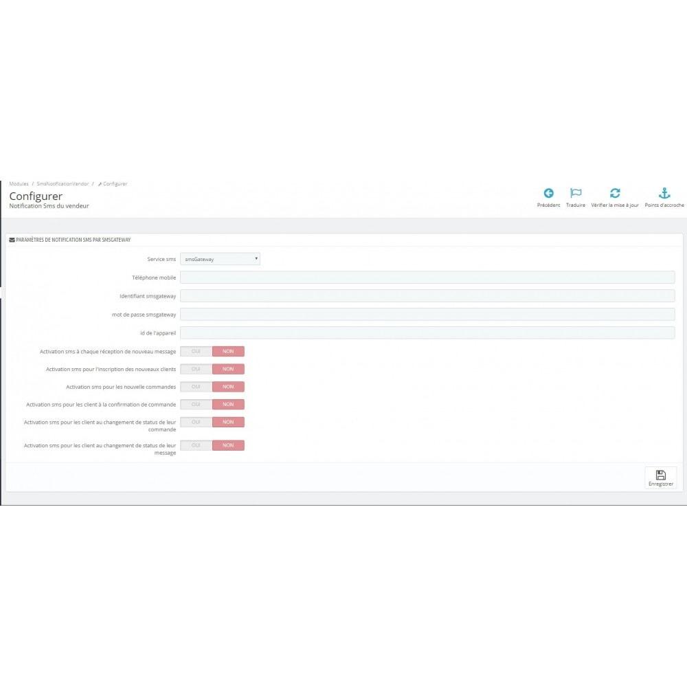 module - E-mails & Notifications - Notifications SMS en gratuitement ou avec OVH - 2