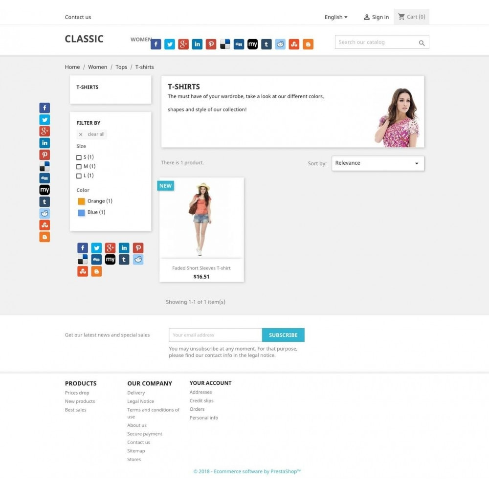module - Share Buttons & Comments - 12 Social share networks - 3