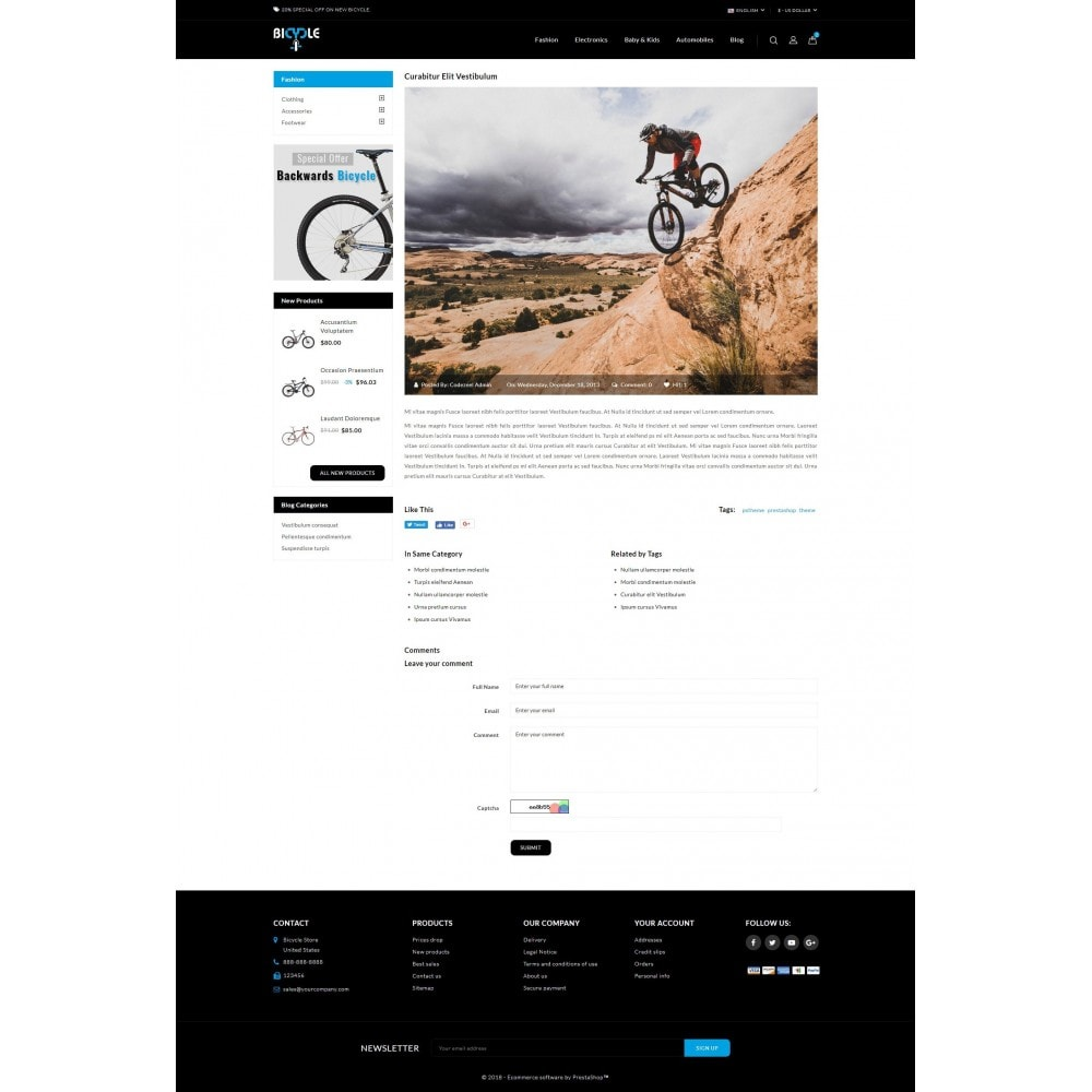 theme - Automotive & Cars - Bicycle Store - 9