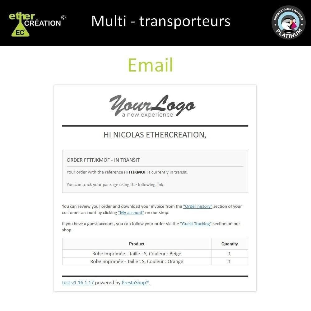module - Versanddienstleister - Multi carrier & Multi tracking - 5