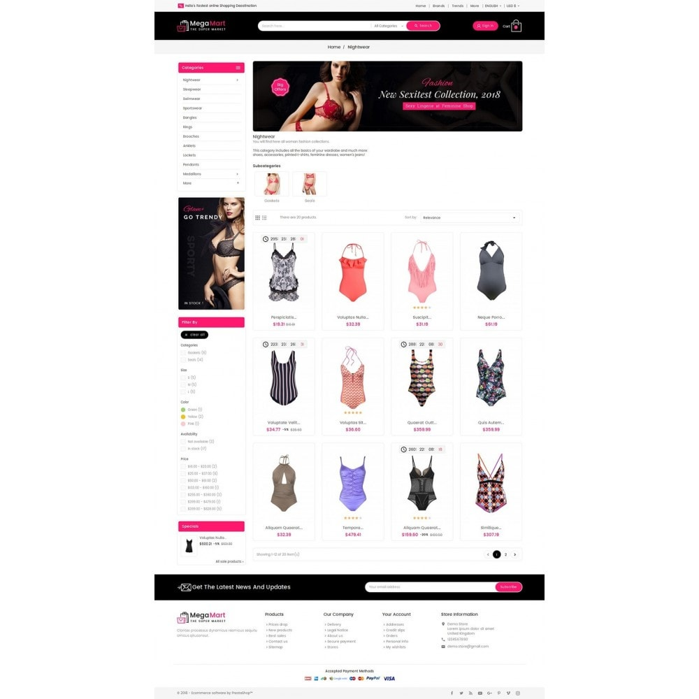 theme - Lingerie & Adultos - Mega Mart Sexy Lingerie - 3