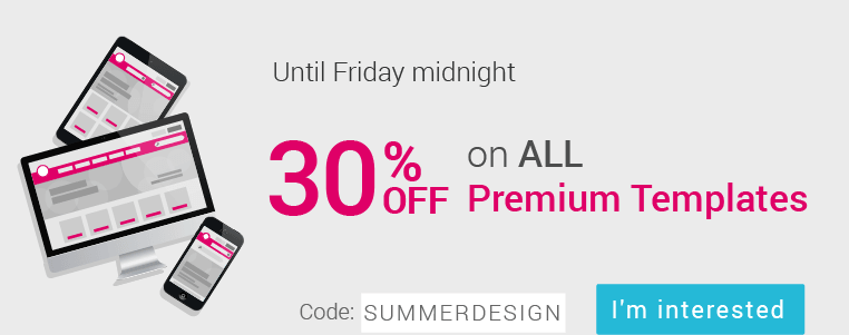 Special Sale : 30% off Until Friday midnight
